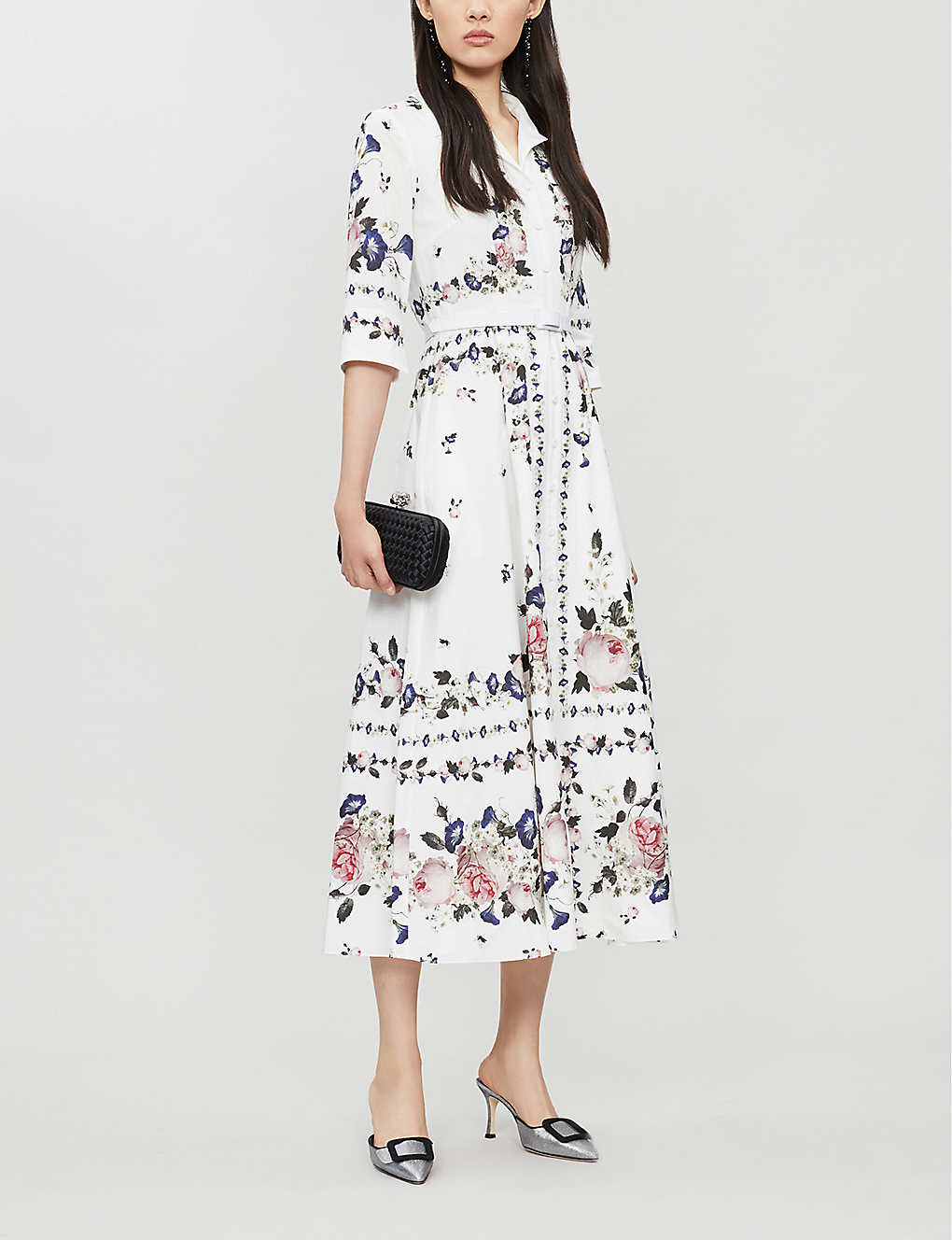 ERDEM Kassia Floral-print Cotton Midi Dress