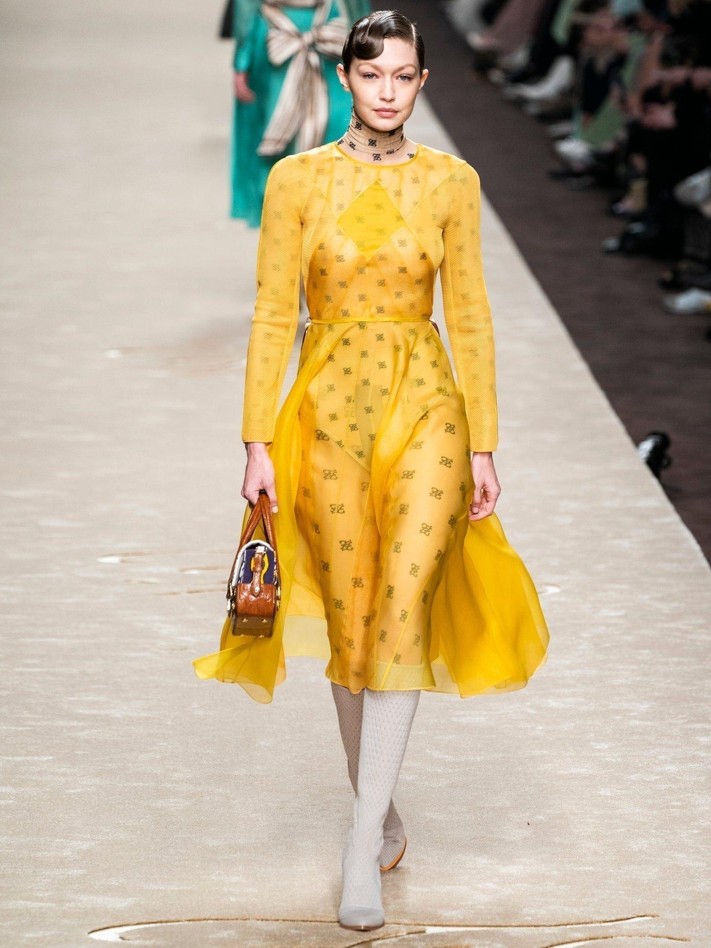FENDI Ff-embroidered Organza And Mesh Midi Dress
