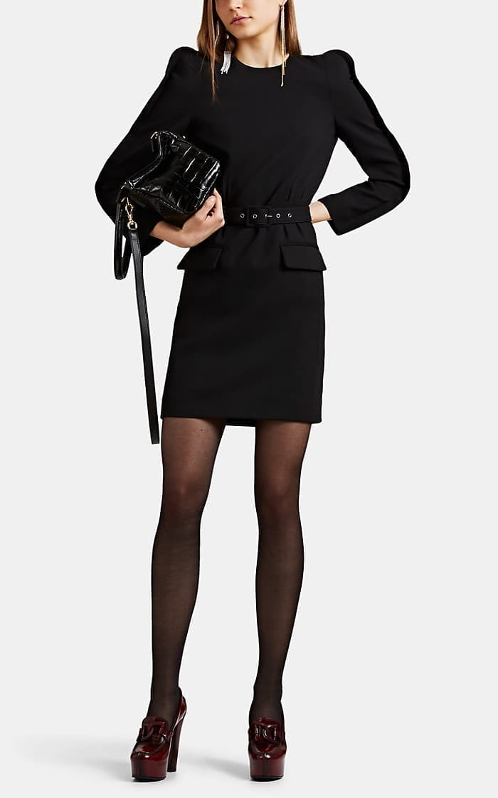 GIVENCHY Crepe Belted Shift Dress