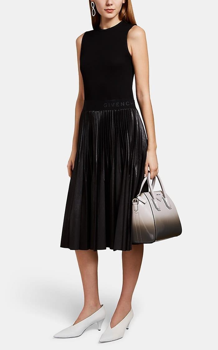 GIVENCHY Pleated-Skirt Sleeveless Dress