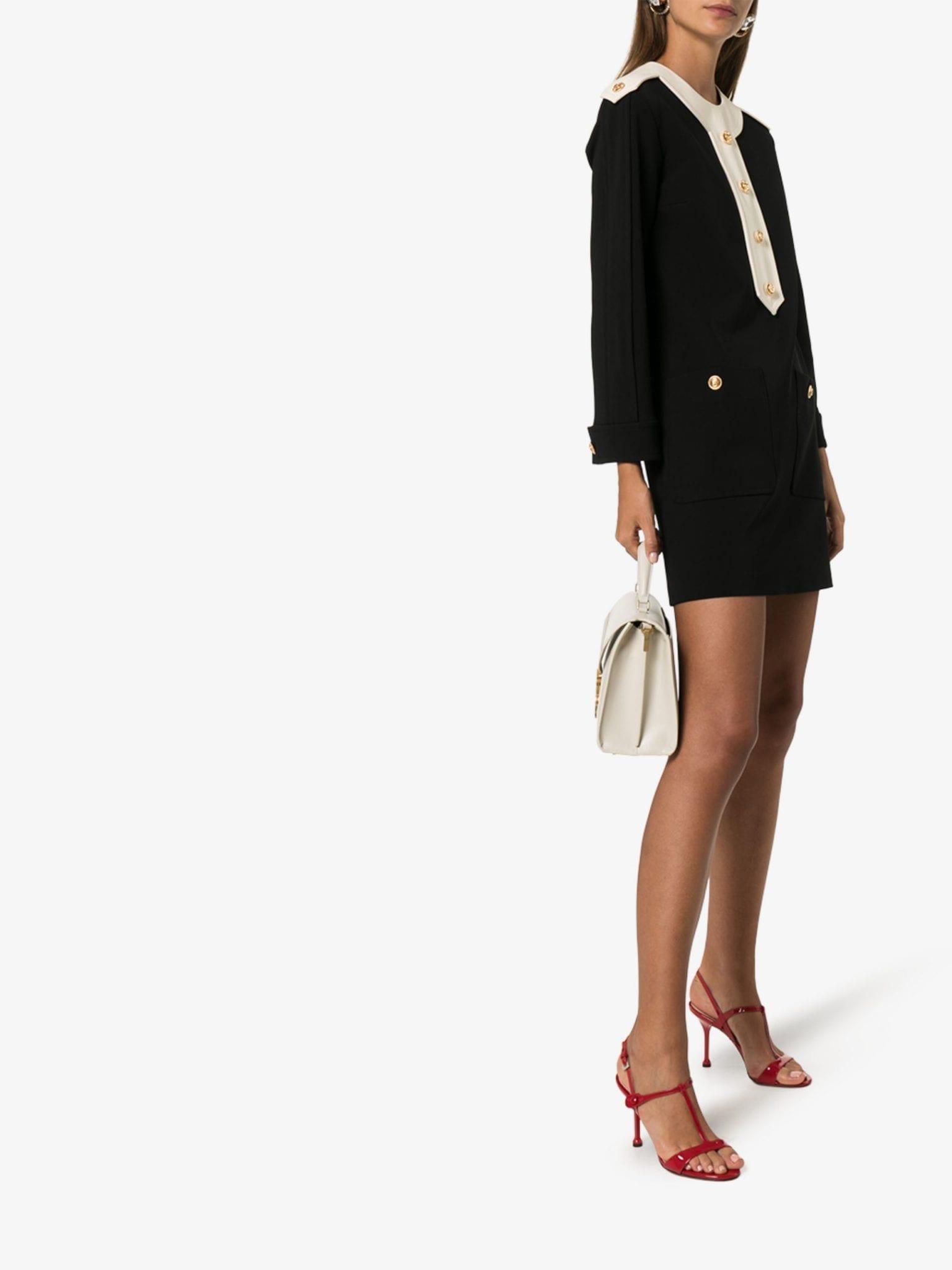 GUCCI Button-Down Shift Mini Dress