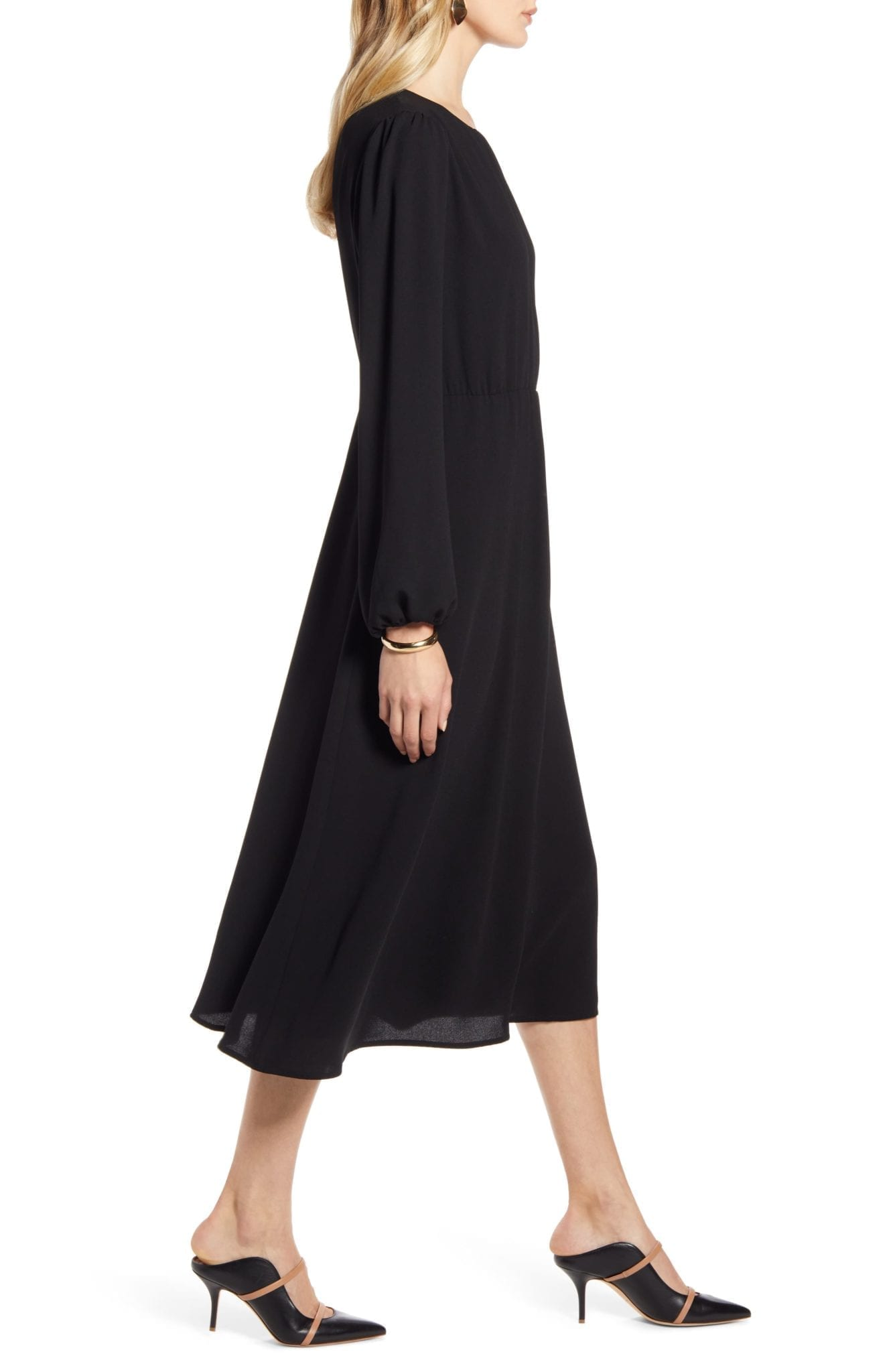 HALOGEN Long Sleeve Dress