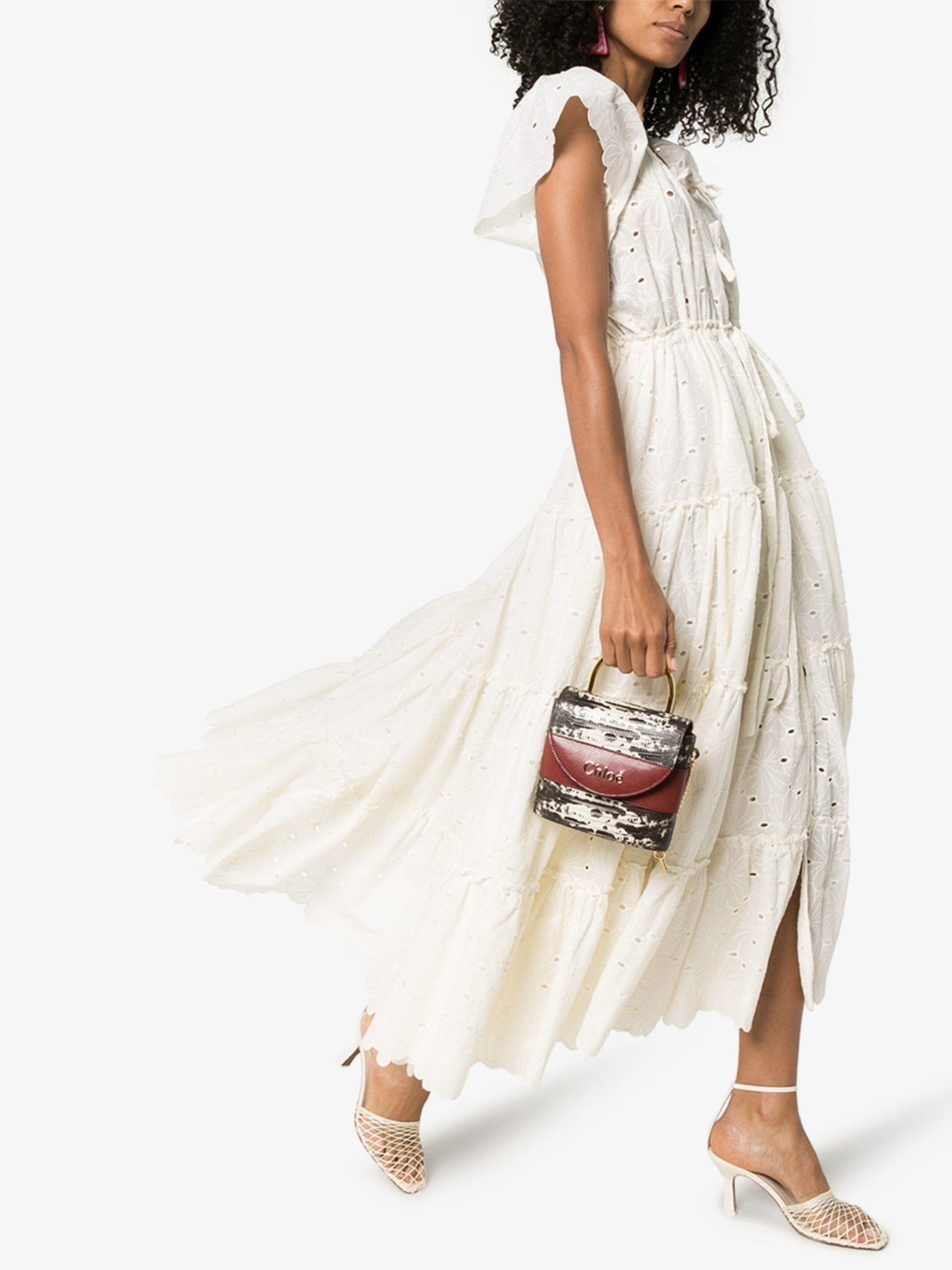 INNIKA CHOO Alotta Tiered Cotton Midi Dress