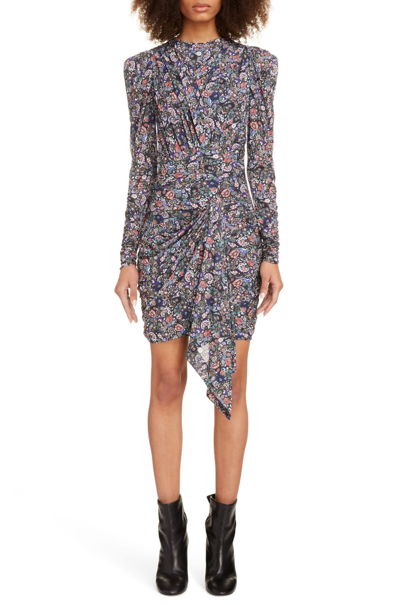 ISABEL MARANT Puff Shoulder Long Sleeve Dress