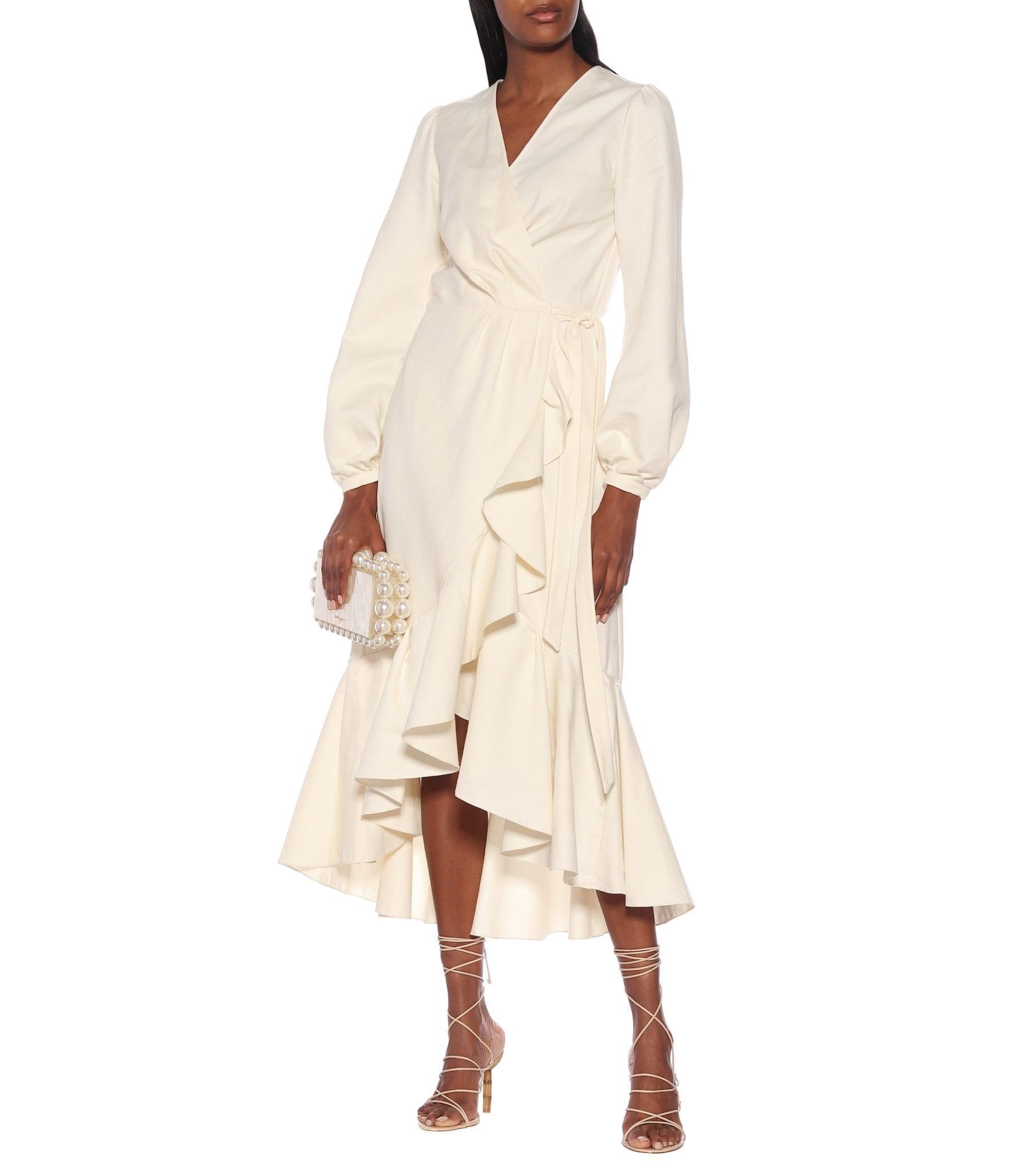 JOHANNA ORTIZ Mundo Abstracto Cotton Midi Dress