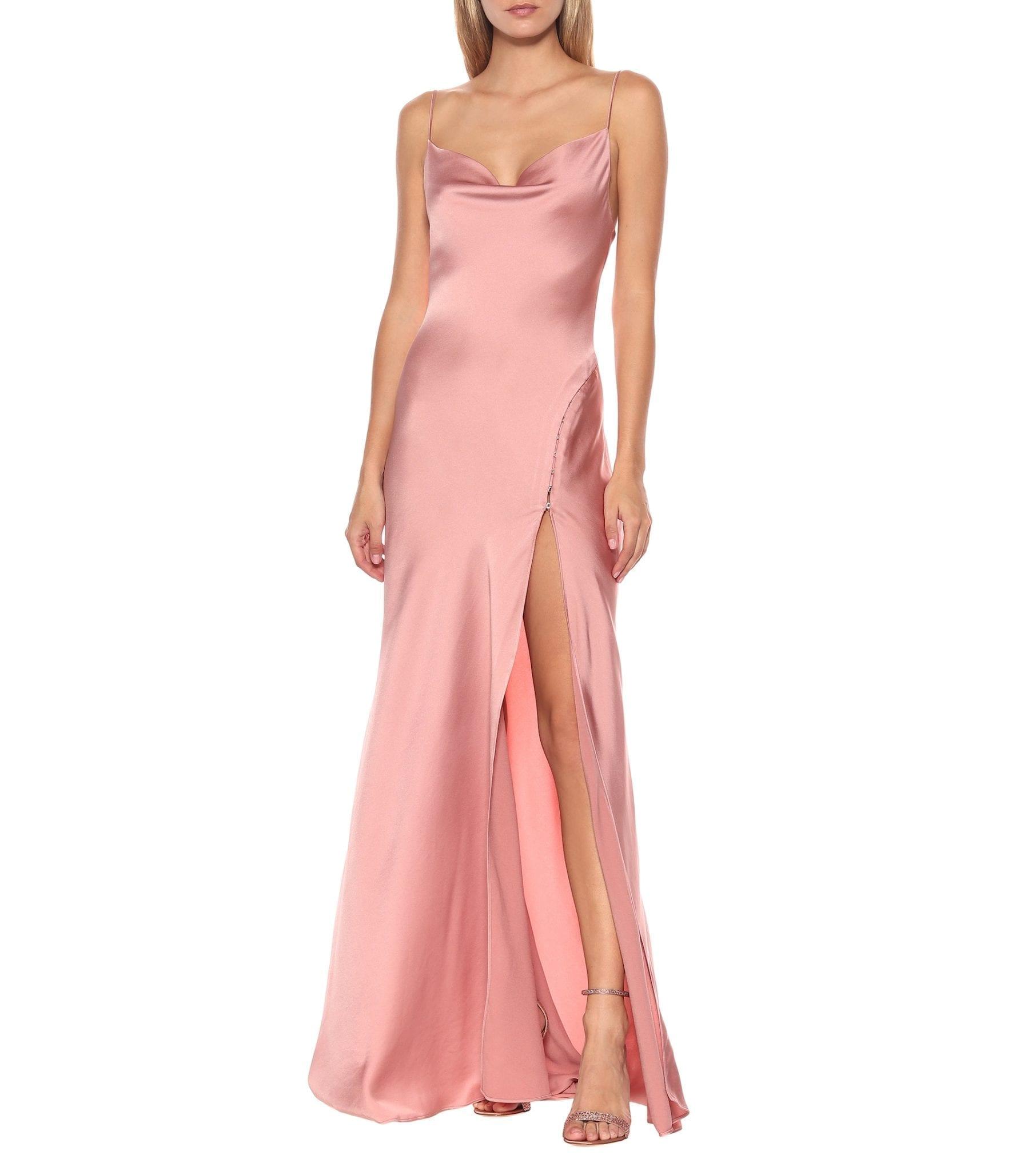 JONATHAN SIMKHAI Satin Maxi Slip Dress
