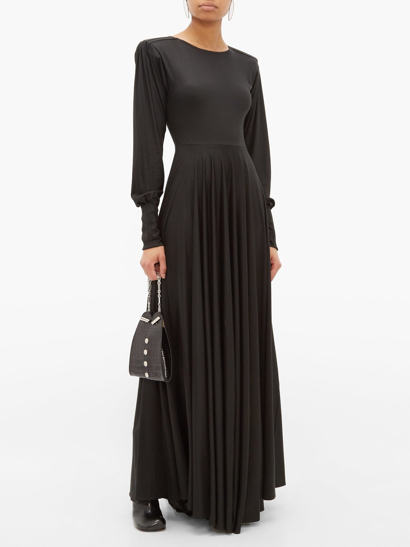 LEMAIRE Pleated-sleeve Bias-cut Modal-jersey Maxi Dress
