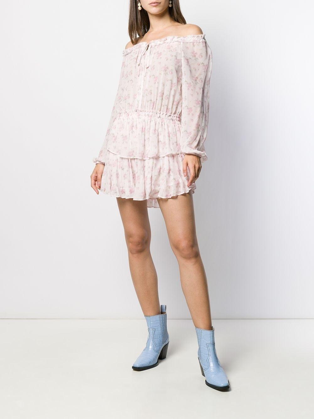 LOVE SHACK FANCY Off-the-shoulder Floral-Print Dress