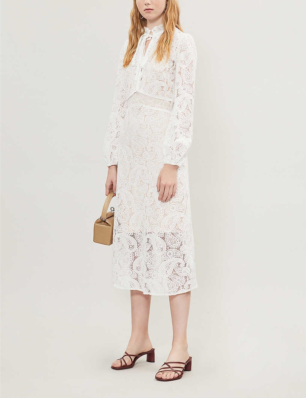 MAJE Paisley Lace Dress