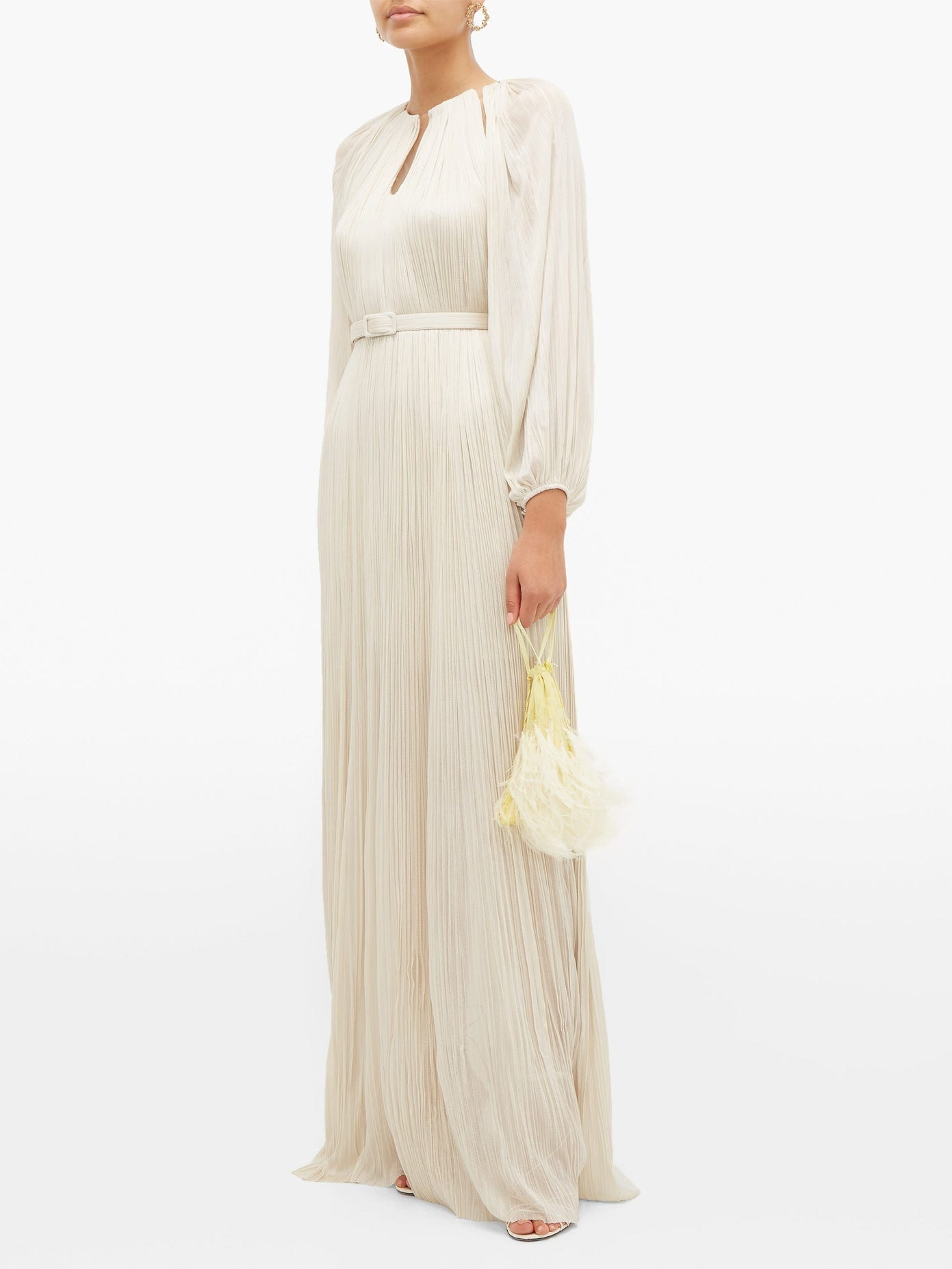 MARIA LUCIA HOHAN Lee Pleated Silk-tulle Maxi Dress
