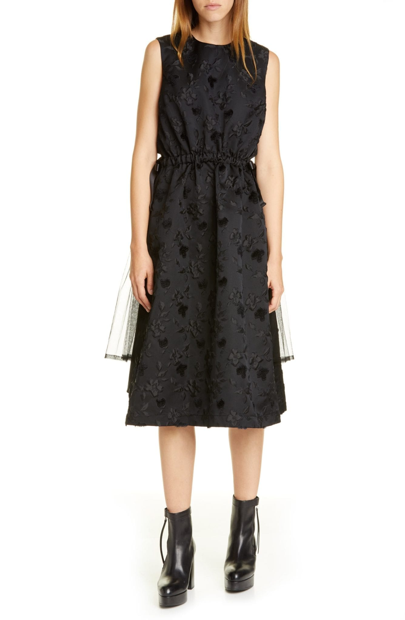 NOIR KEI NINOMIYA Floral Midi Dress