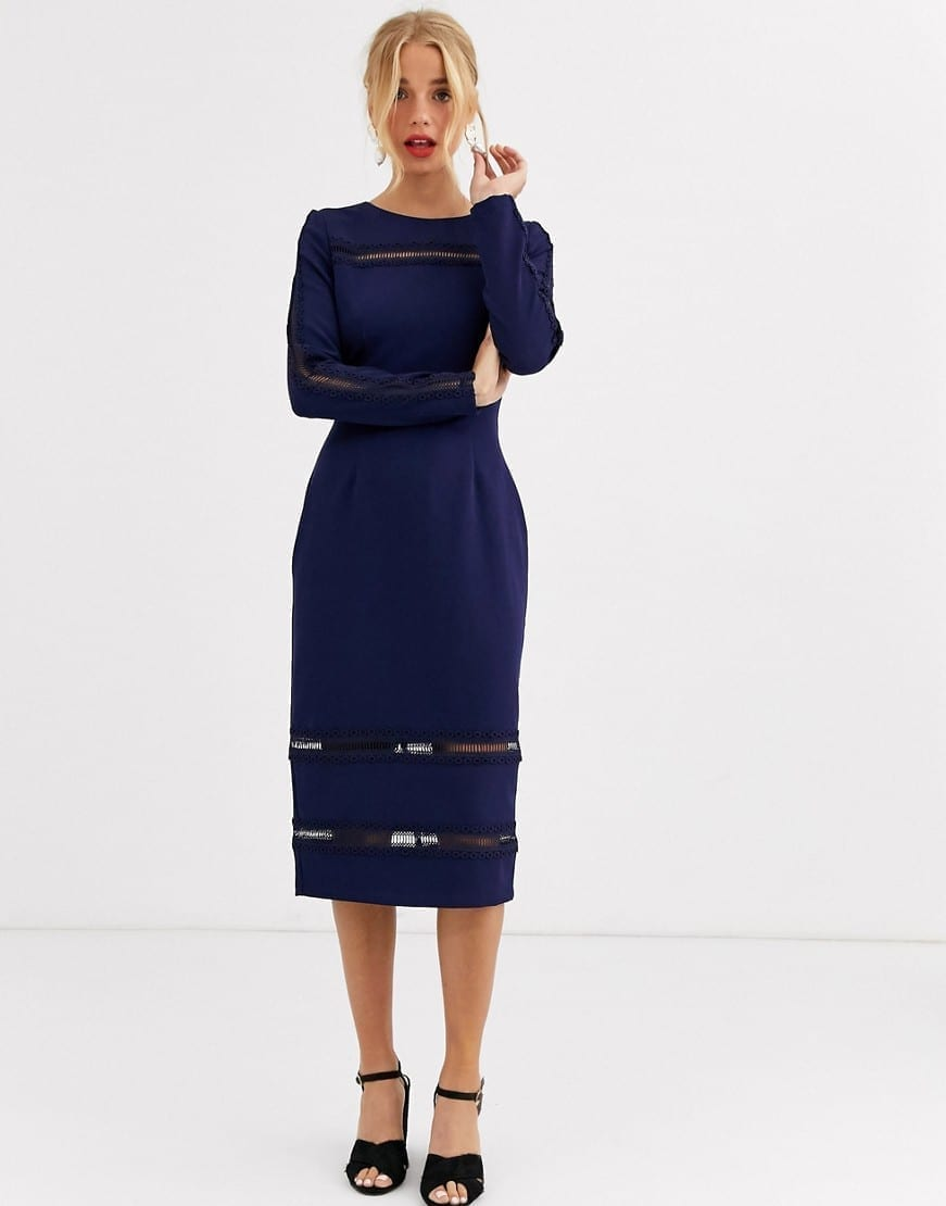 PAPER DOLLS Long Sleeve Midi Dress