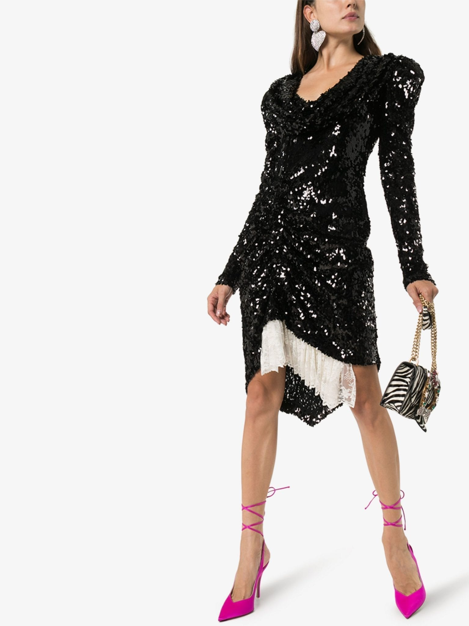 PREEN BY THORNTON BREGAZZI Karin Sequin Embellished Dress