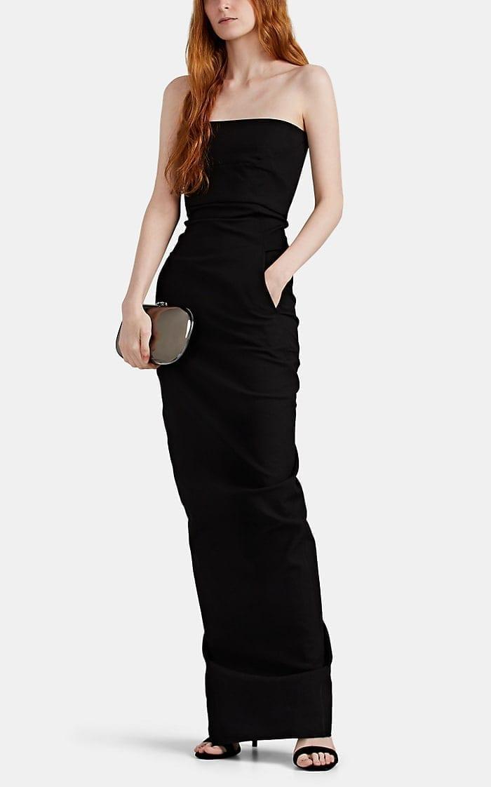 RICK OWENS Cotton-Blend Bustier Gown