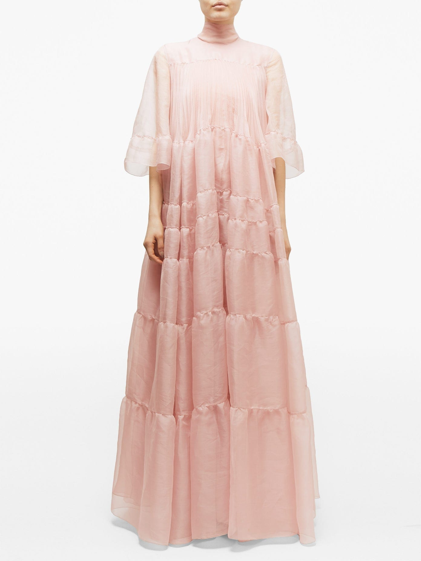ROCHAS Tiered Silk-organza Gown