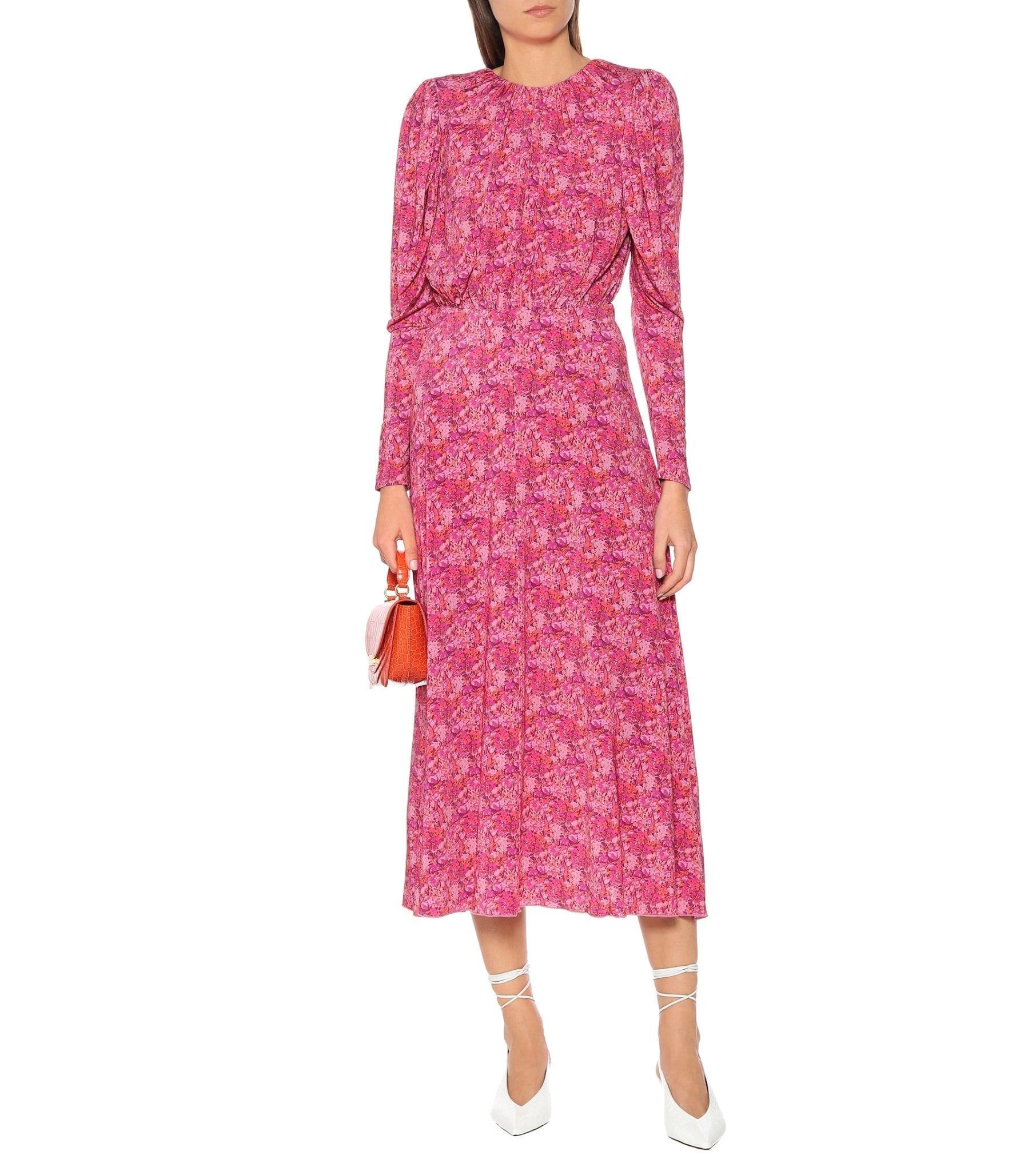 ROTATE BIRGER CHRISTENSEN Floral Stretch-jersey Midi Dress