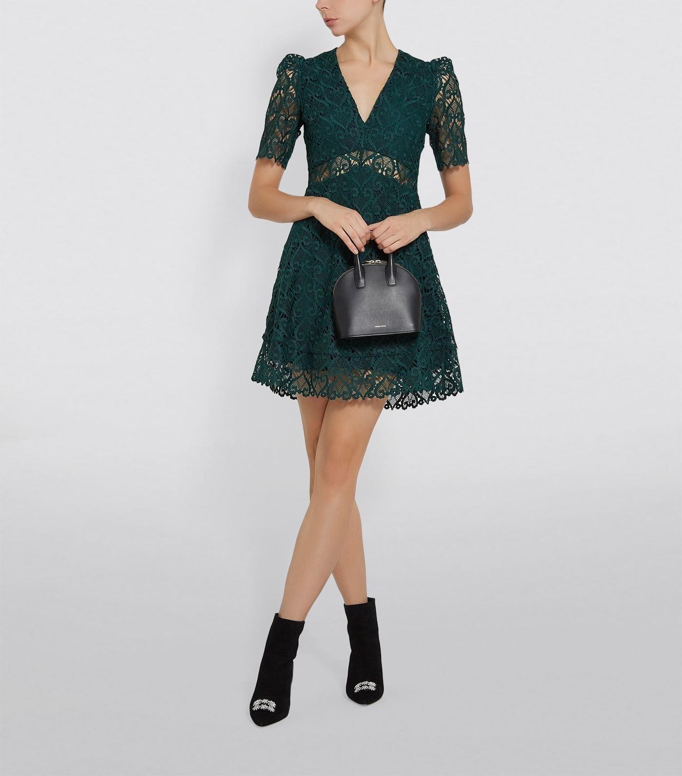 SANDRO Lace A-Line Dress