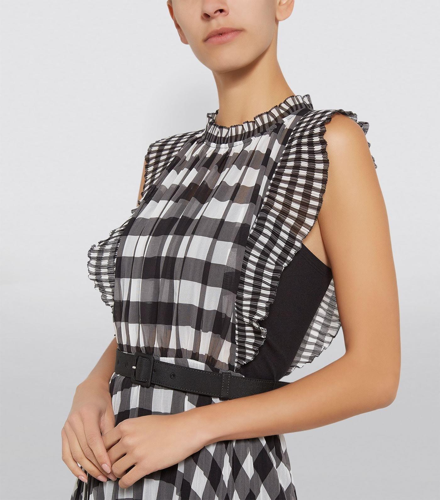 SELF-PORTRAIT Chiffon Gingham Dress