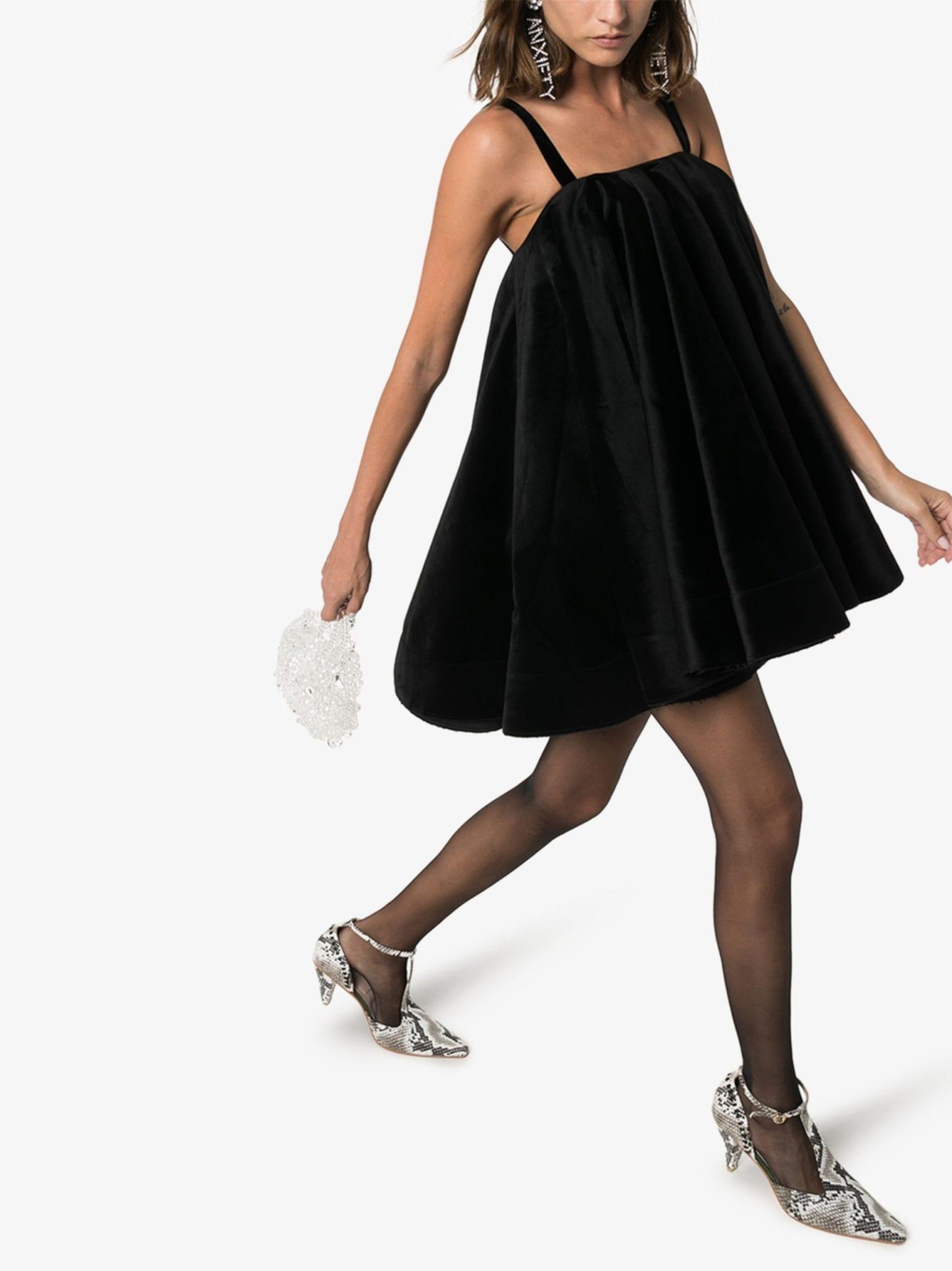 SHUSHU TONG Velvet Trapeze Dress