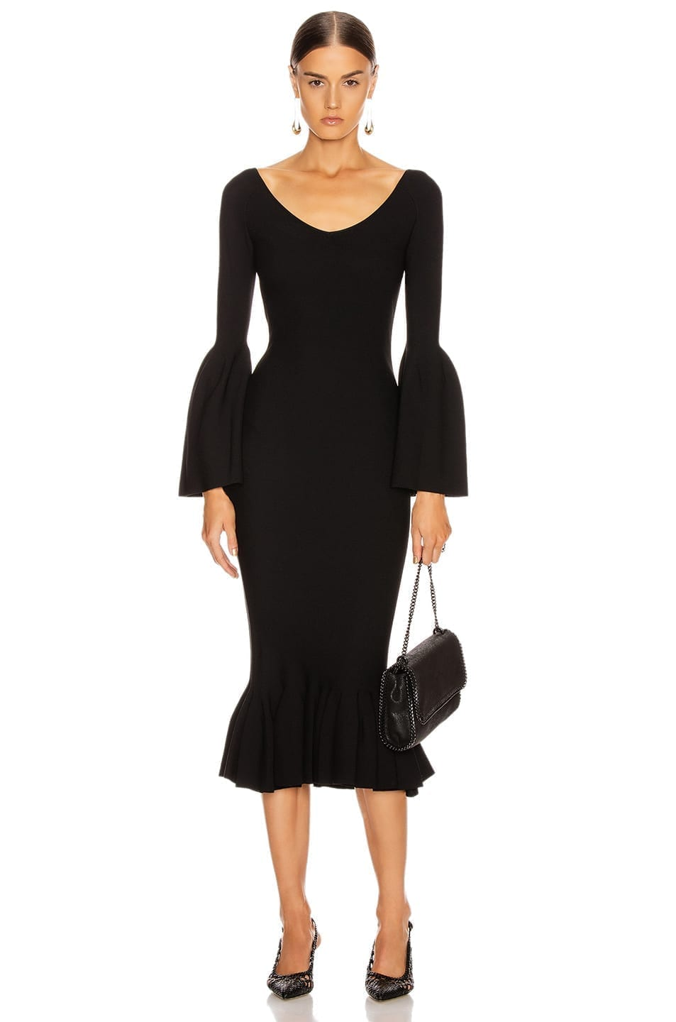 STELLA MCCARTNEY Peplum Midi Dress