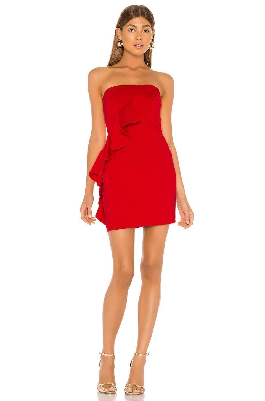 SUSANA MONACO Spiral Ruffle Mini Dress