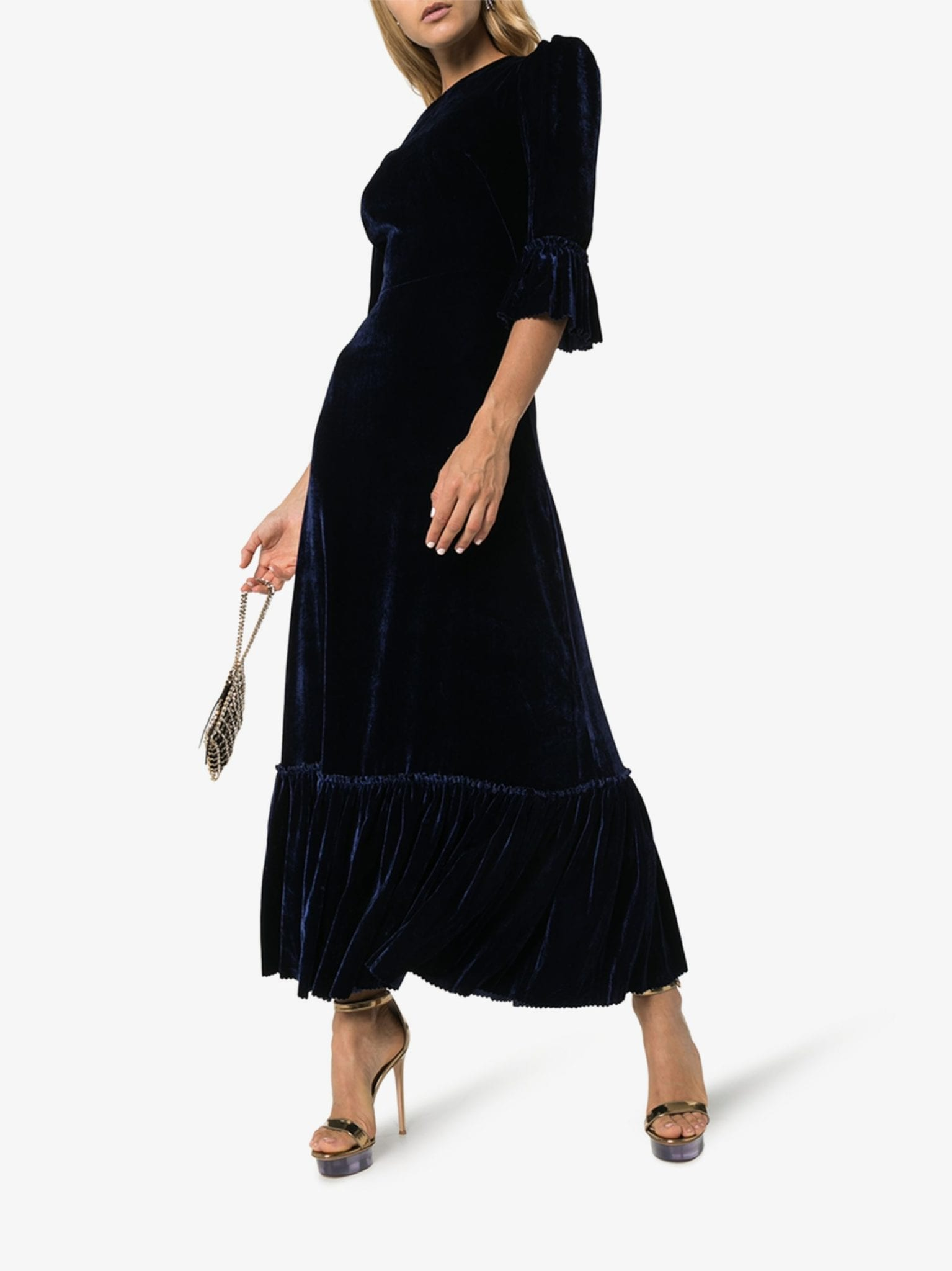 THE VAMPIRE'S WIFE Festival Velvet Maxi Dress