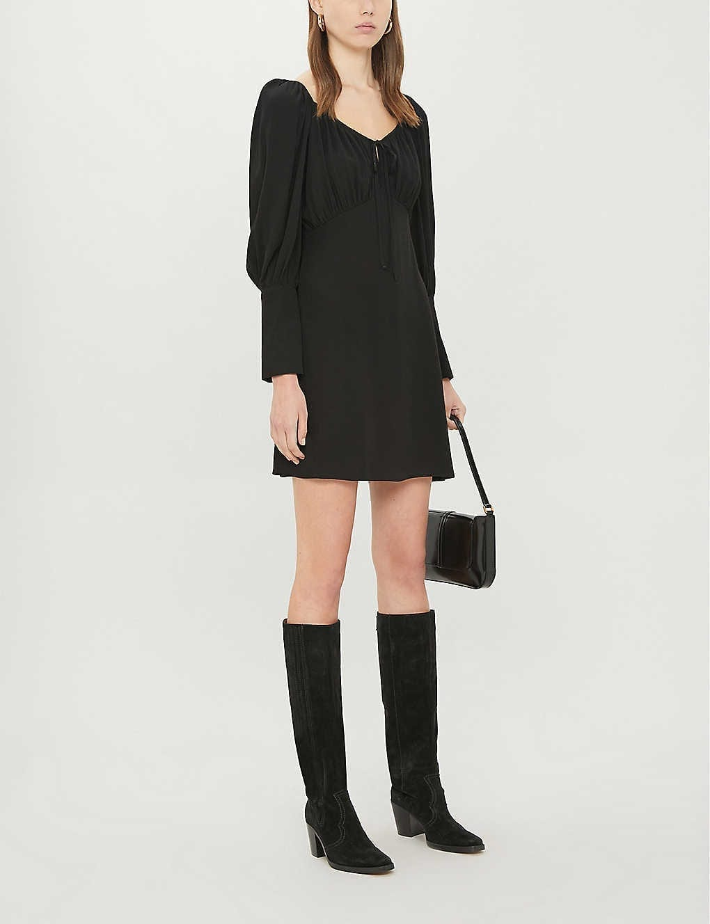 TOPSHOP Prairie Crepe Mini Dress