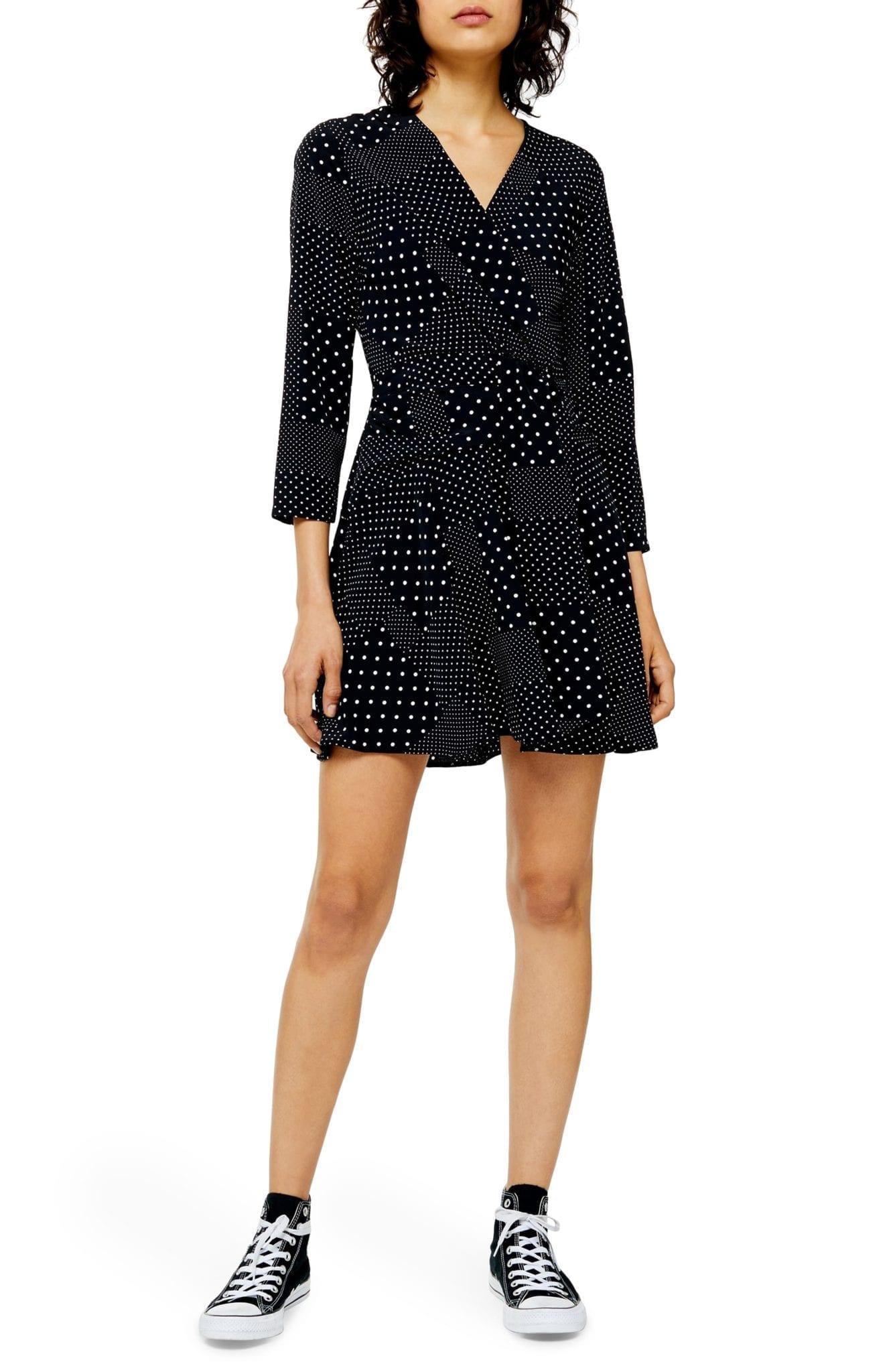 TOPSHOP Twist Front Mini Dress