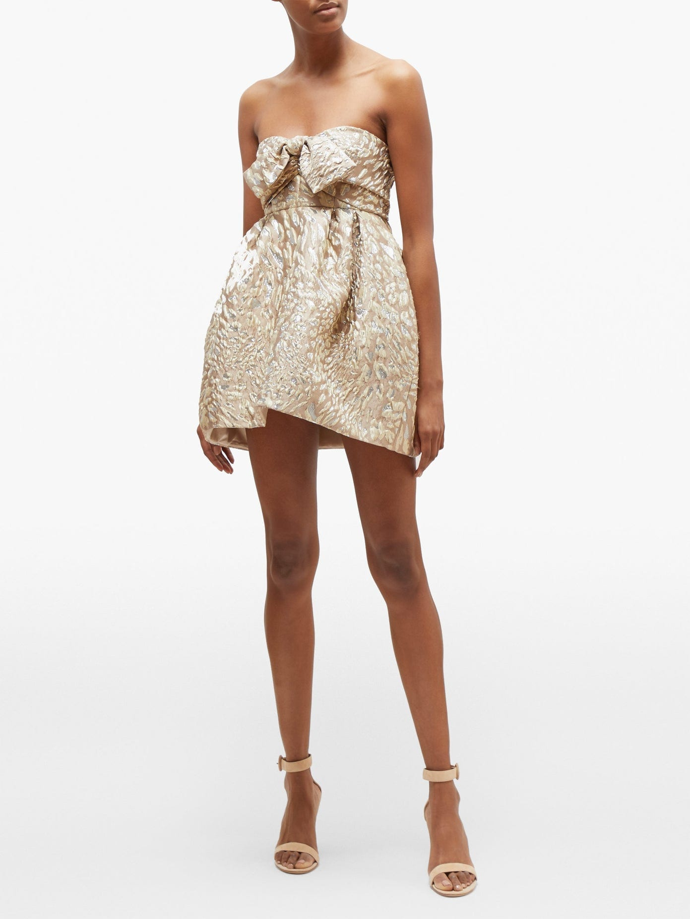 ALEXANDRE VAUTHIER Metallic Leopard-jacquard Mini Dress