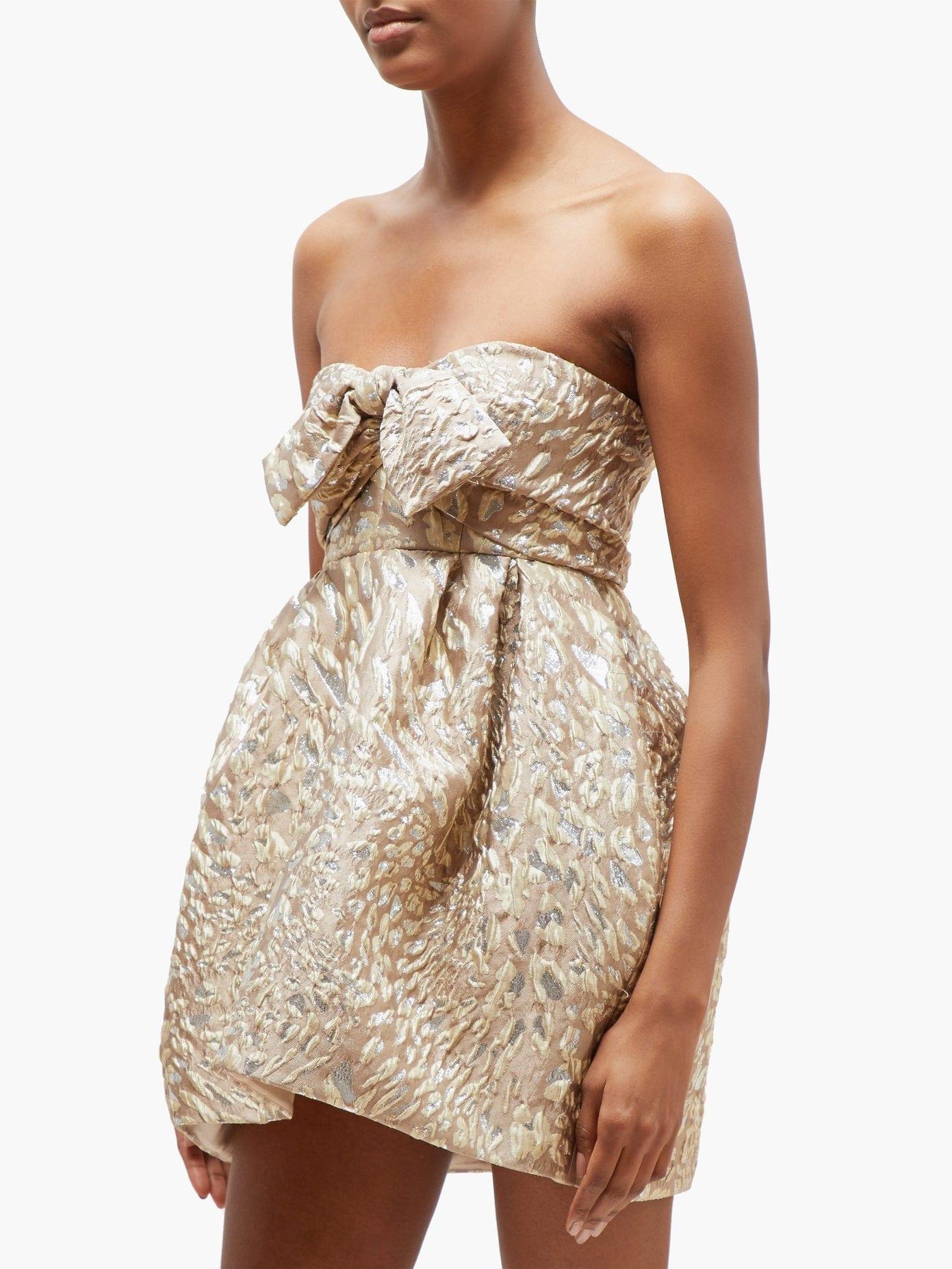 ALEXANDRE VAUTHIER Metallic Leopard-jacquard Mini Dress