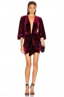 ALEXANDRE VAUTHIER Velvet Jersey Mini Dress
