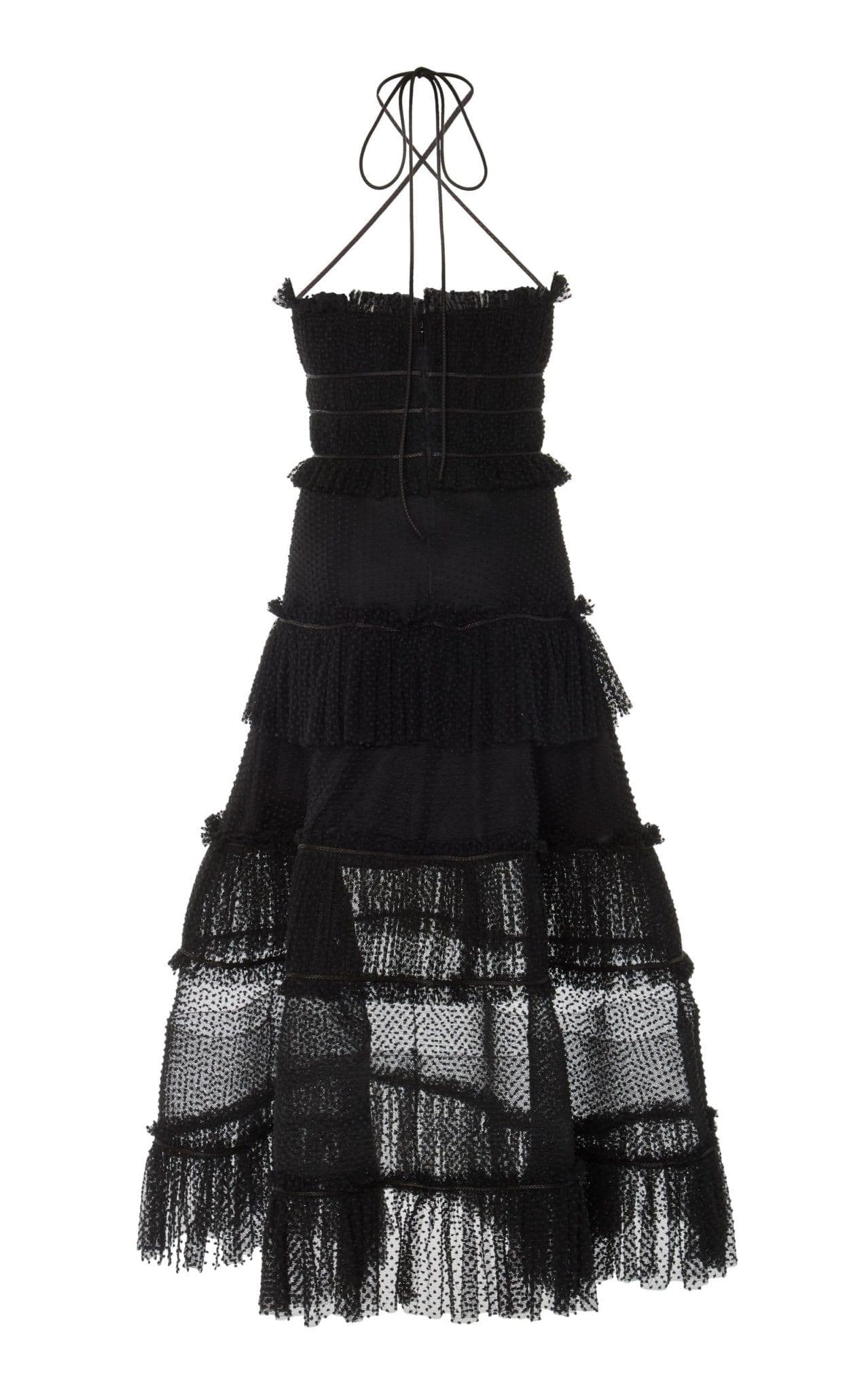 ALEXIS Angelia Ruffle-Tiered Criss-Cross Cotton Dress