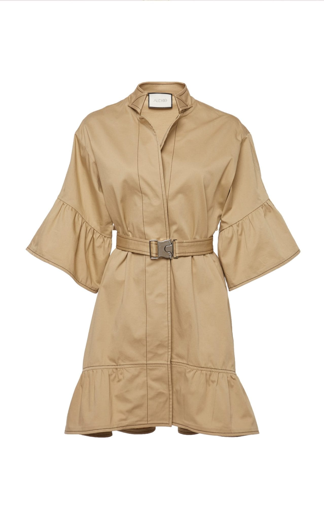 ALEXIS Mariano Belted Cotton-Blend Mini Dress