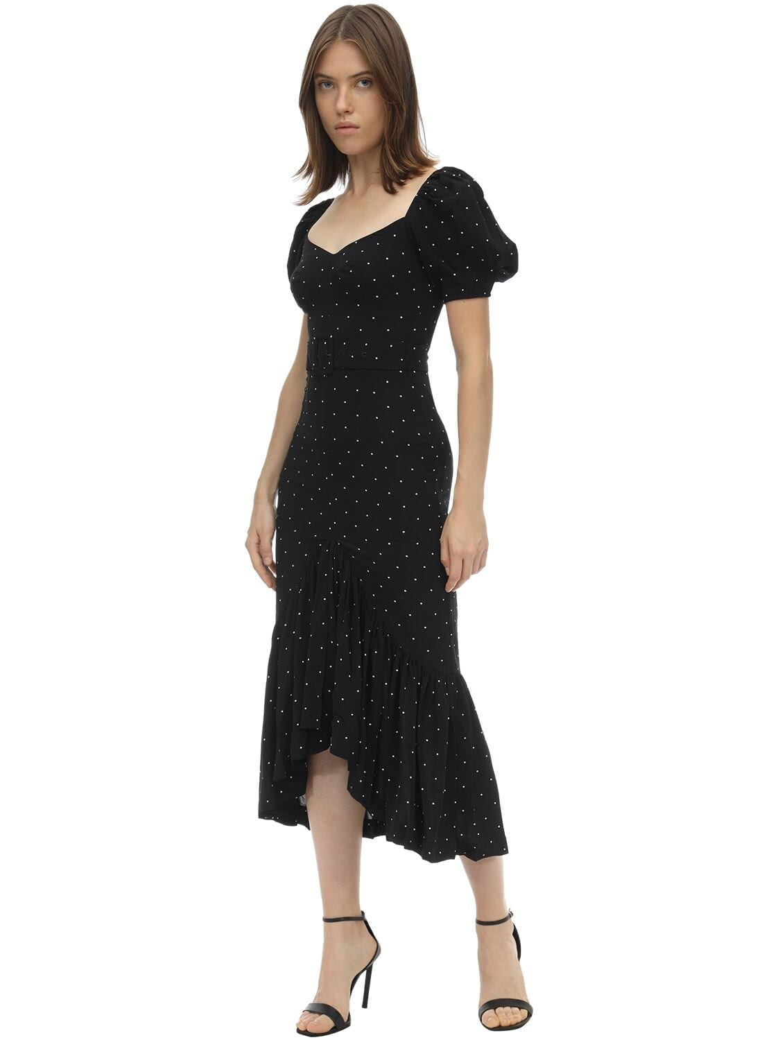 ALICE MCCALL Polka Dot Printed Midi Dress