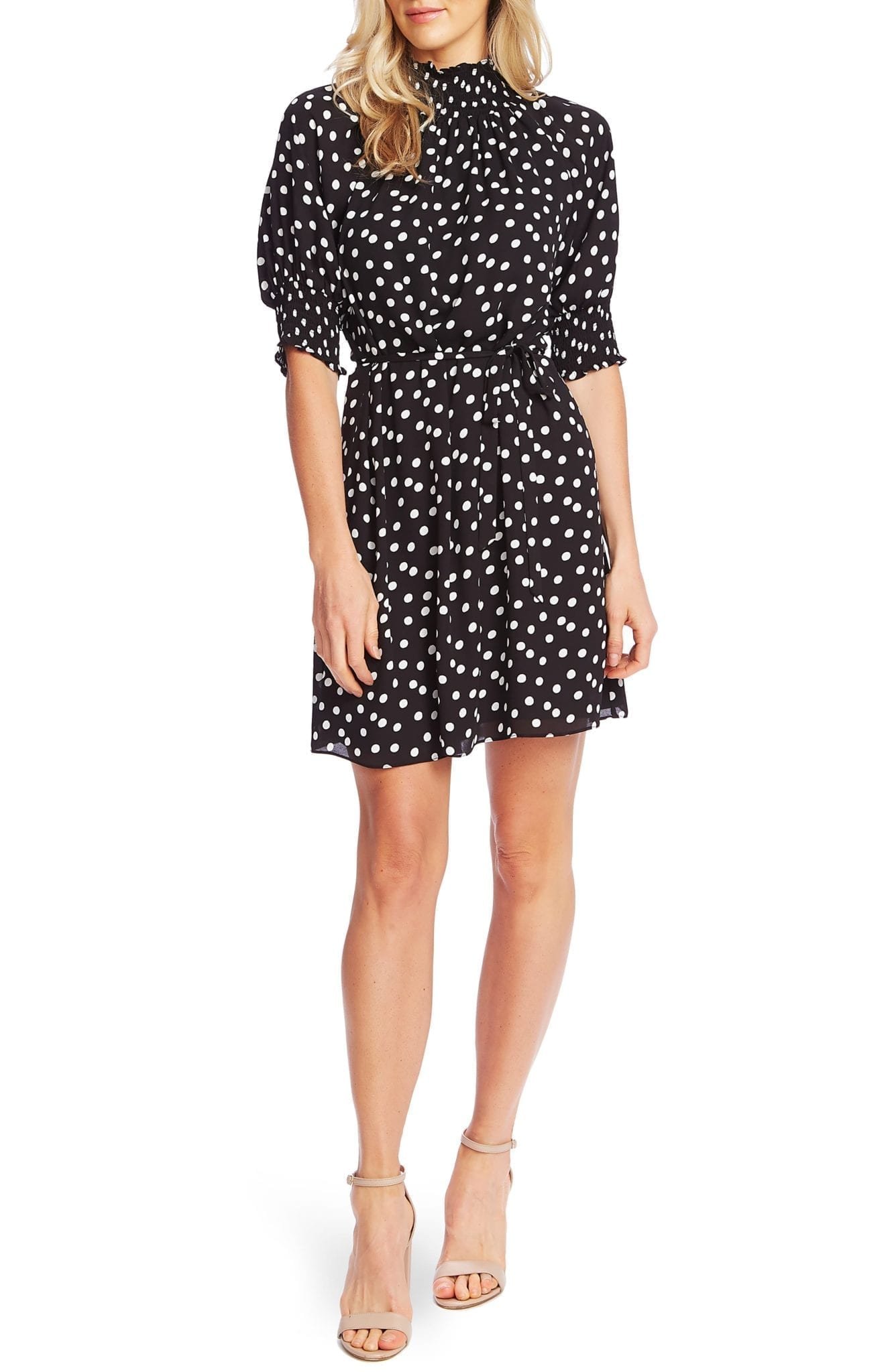 CECE Galactic Dot A-Line Dress