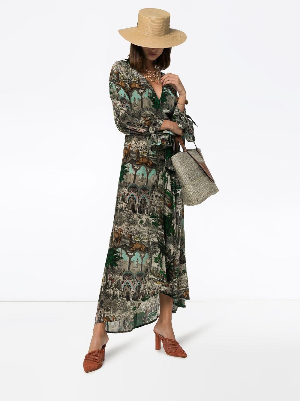 CHUFY Jamal Printed Wrap Maxi Dress