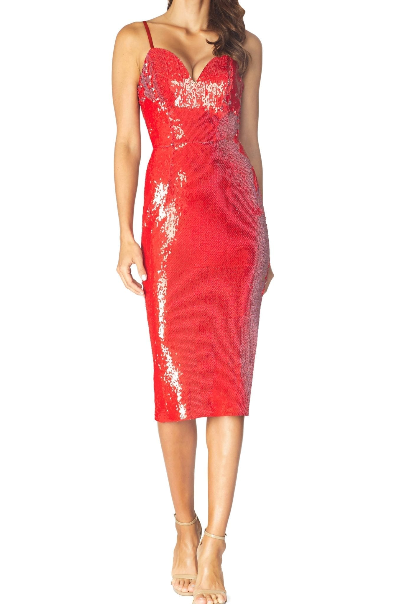 DRESS THE POPULATION Dita Sequin Cocktail Dress