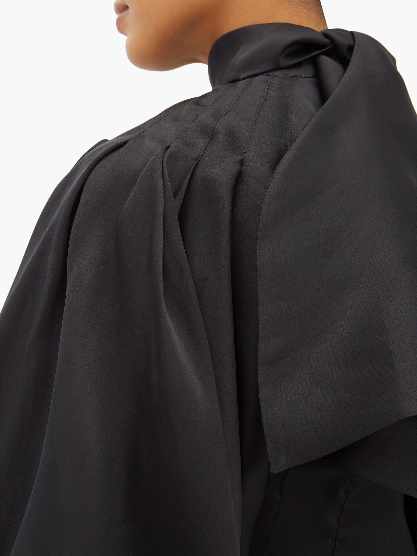 ELZINGA Balloon-sleeve Silk-organza Mini Dress