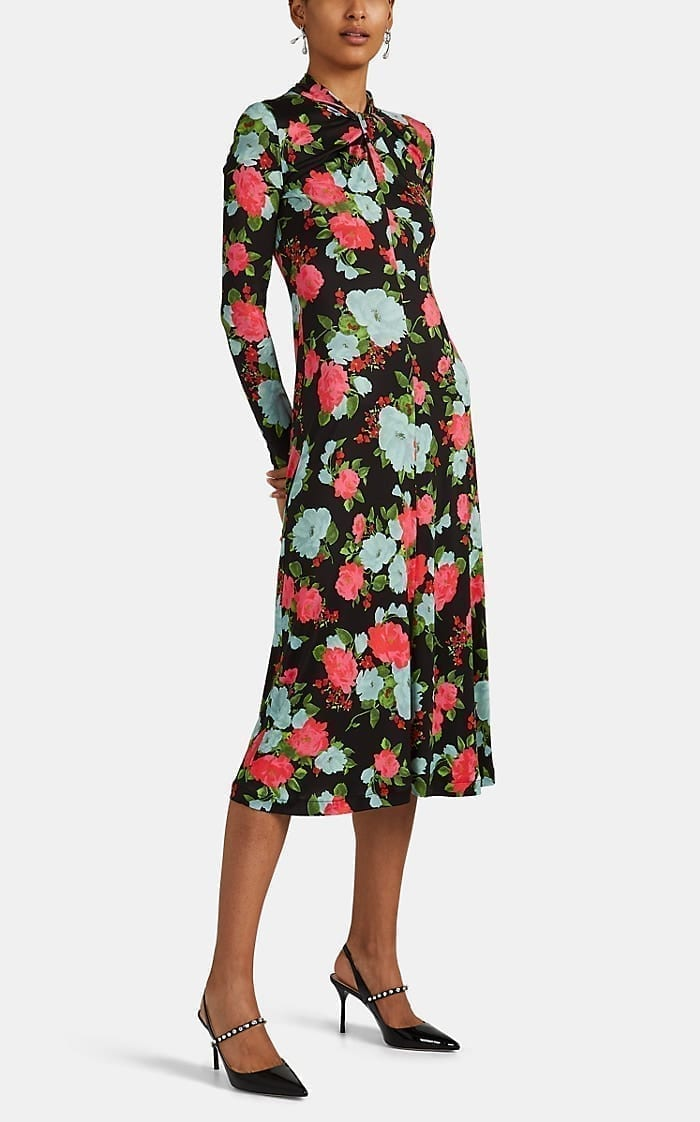 ERDEM Nolene Floral Jersey Dress