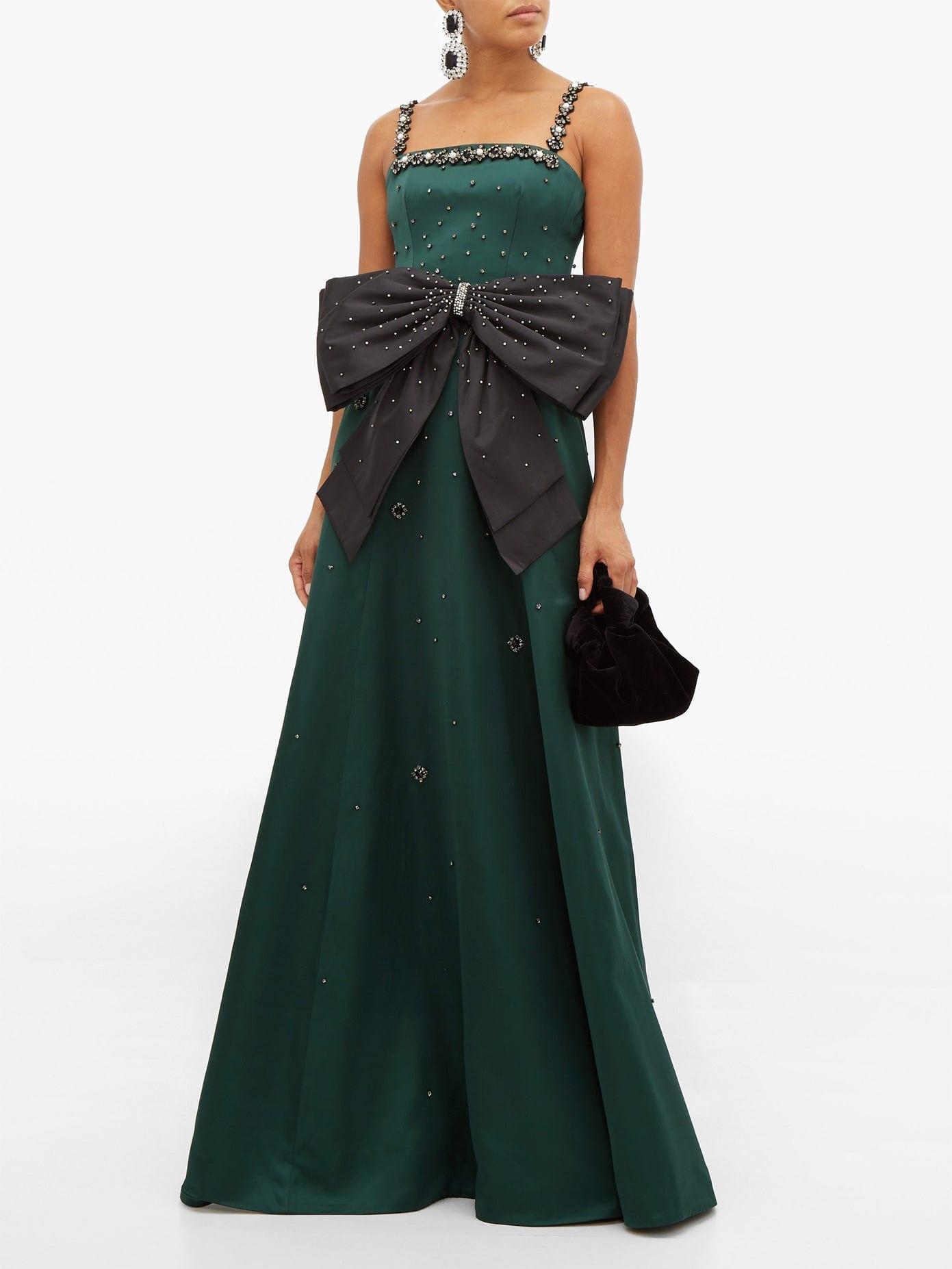 ERDEM Ravenna Crystal-Embellished Satin Gown