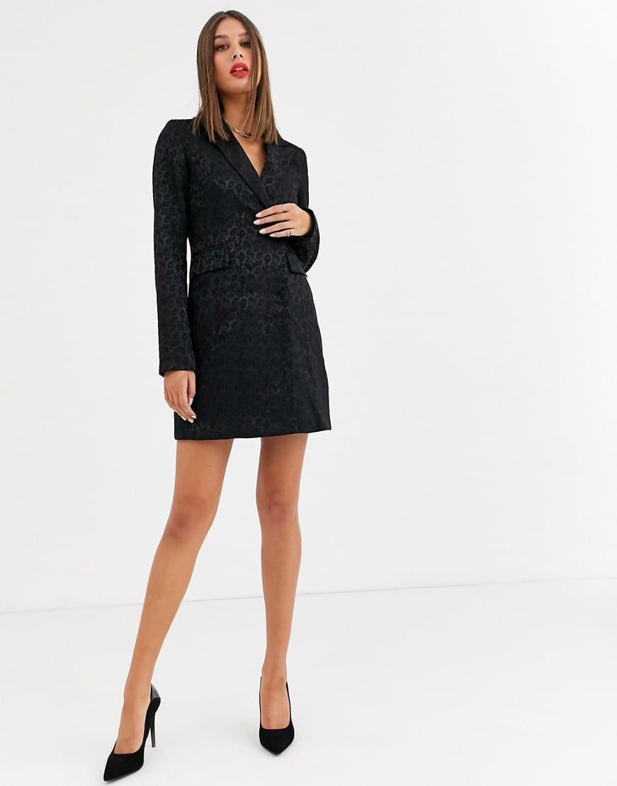FASHION UNION Tall Tailored Blazer Dress