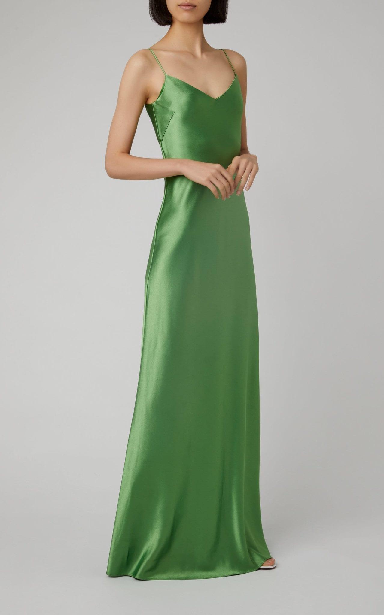 GALVAN Satin Maxi Dress