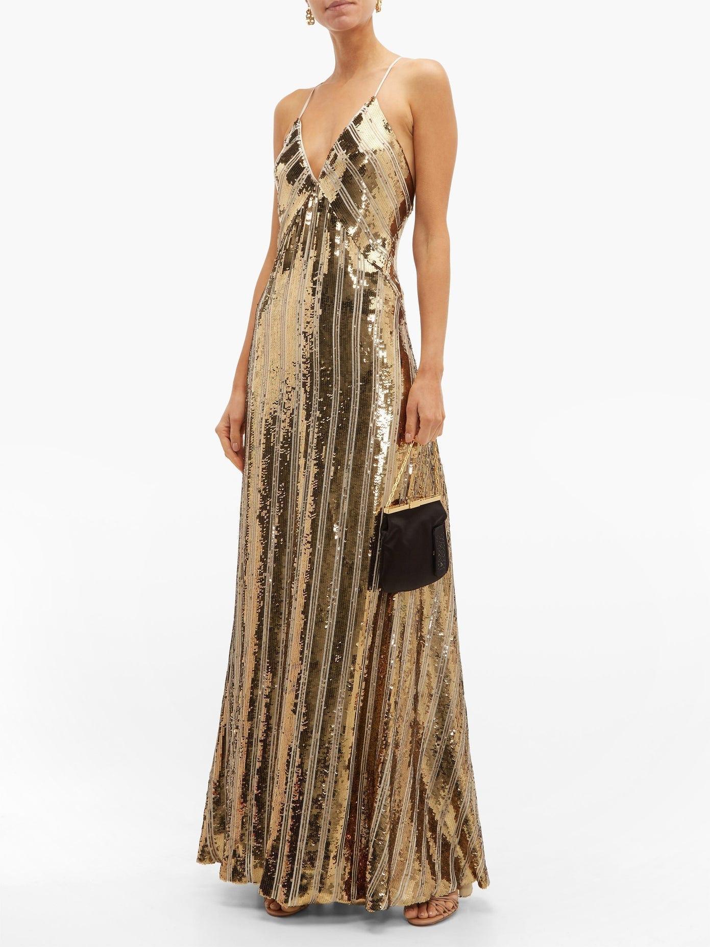 GALVAN Stardust Sequinned Maxi Dress