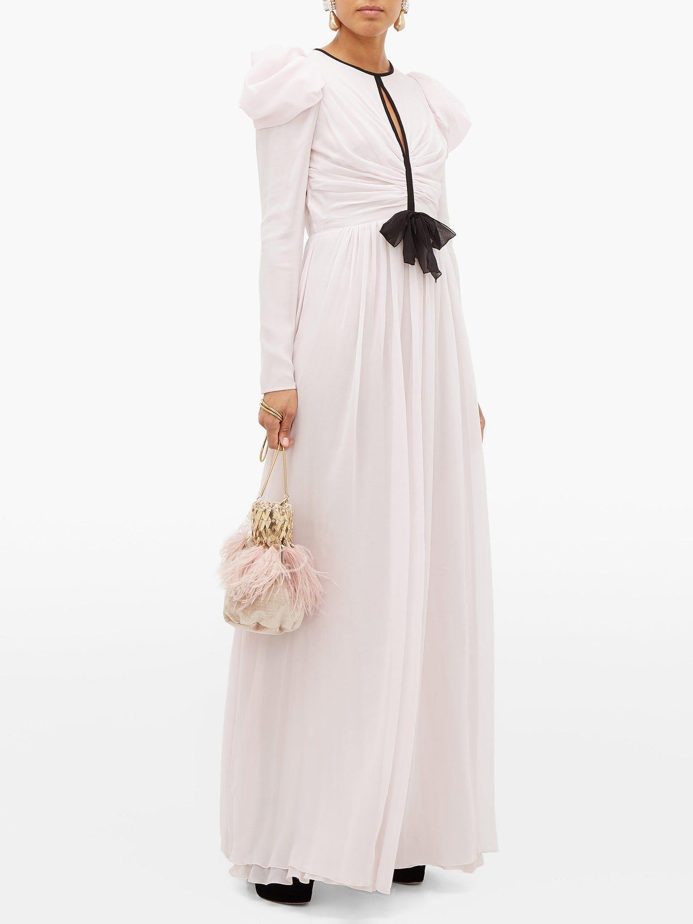 GIAMBATTISTA VALLI Puff-sleeve Silk-georgette Gown