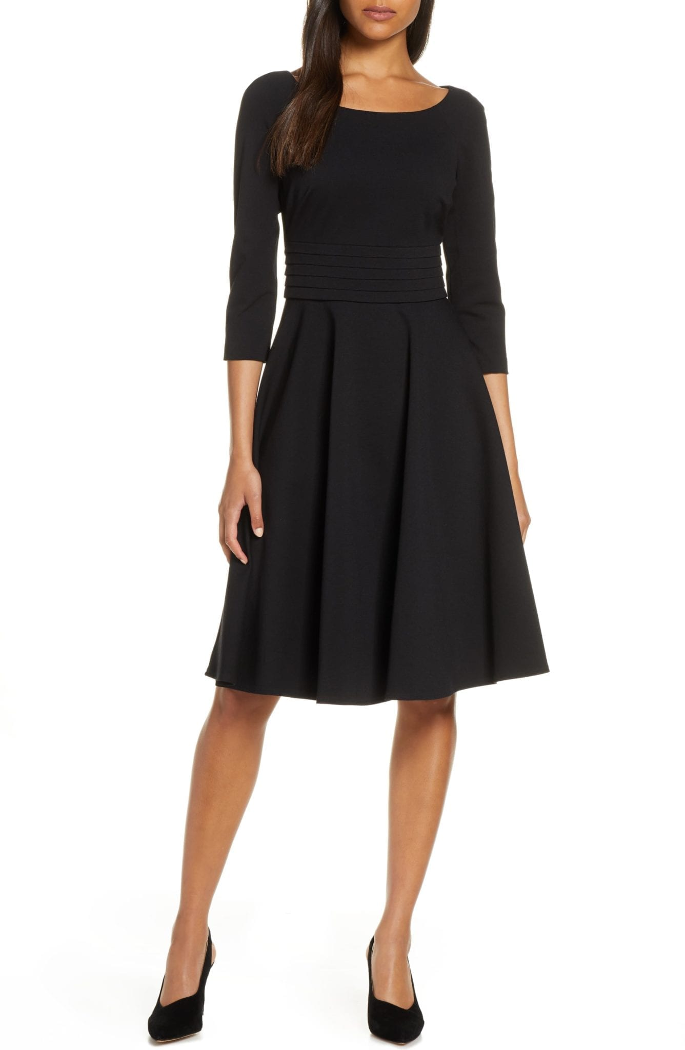 HARPER ROSE Pleated Fit & Flare Dress