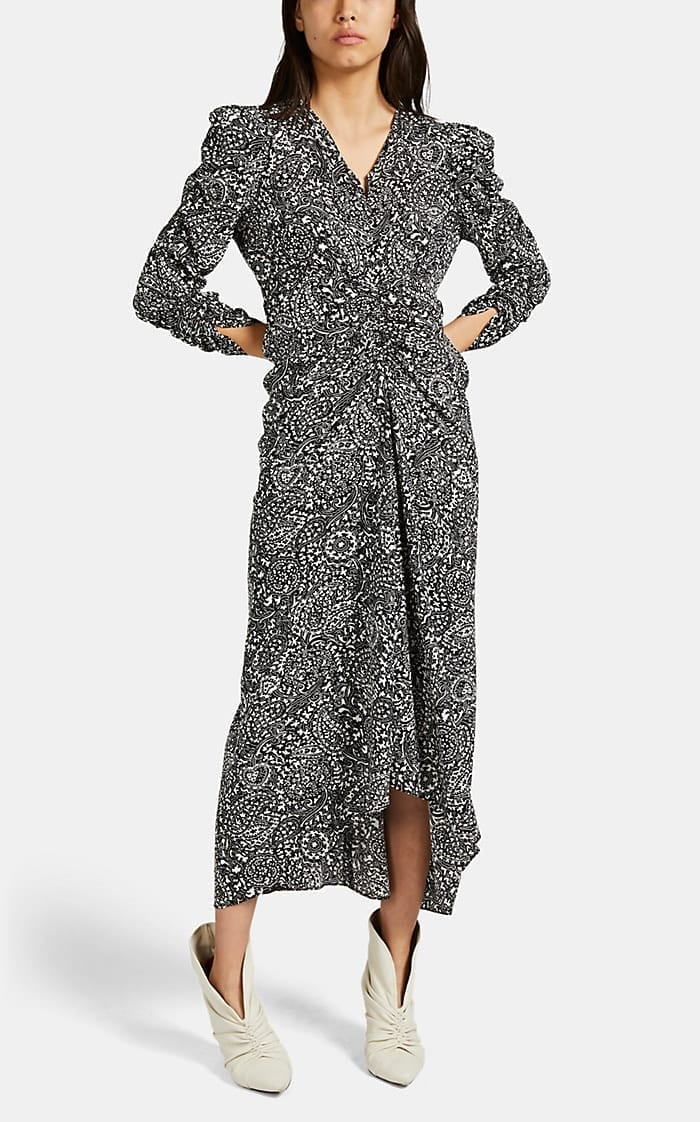 ISABEL MARANT Albi Paisley Crepe Midi-Dress