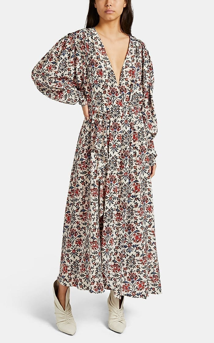 ISABEL MARANT Blaine Floral Maxi Dress
