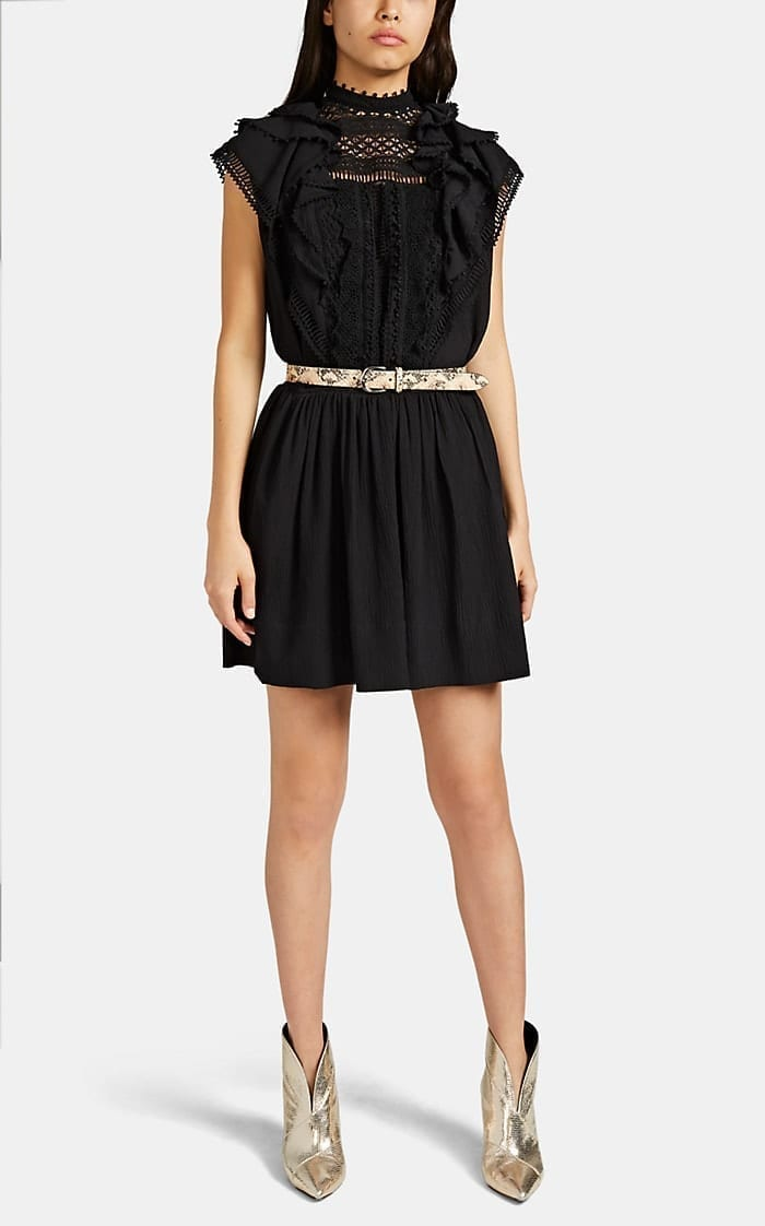 ISABEL MARANT Ianelia Plissé Crepe Mini Dress