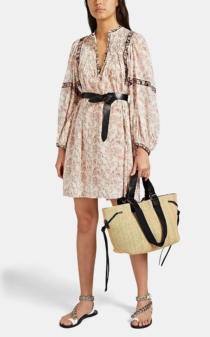 ISABEL MARANT Vergine Floral Peasant Mini Dress
