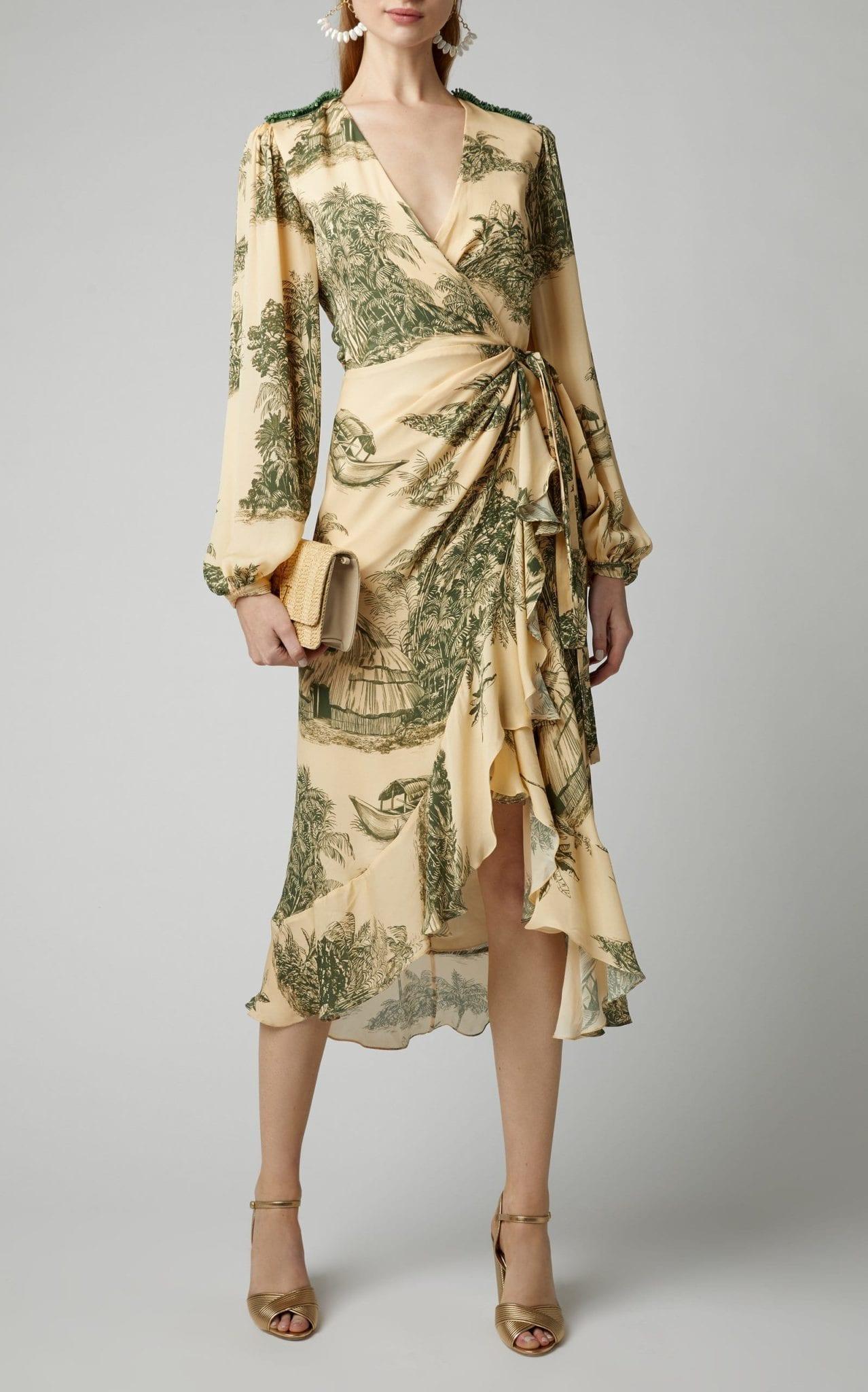 JOHANNA ORTIZ Al Son Del Tambor Silk-Georgette Midi Dress
